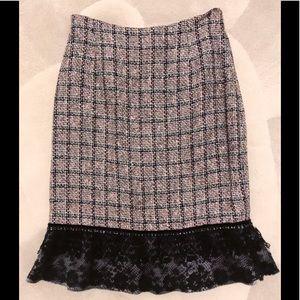 🔥SALE🔥Carmen Marc Valvo Atelier Tweed Skirt